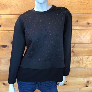 DKNY NWT Black Studded Crew Neck Sweatshirt S
